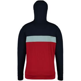 Maloja ArvinsM. Bluza polarowa z kapturem Mężczyźni, red poppy multi